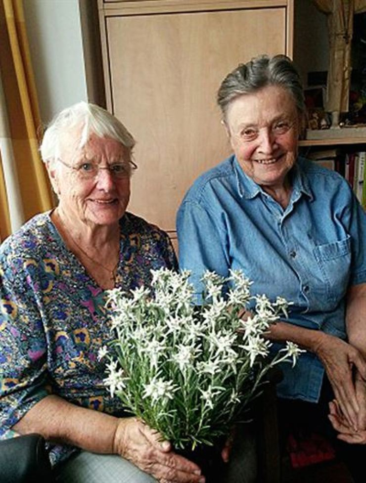 Sister Marianne Stoeger, left, has been awarded the Florence Nightingale Medal by the International Committee of the Red Cross. Courtesy of Korea Nurses Association