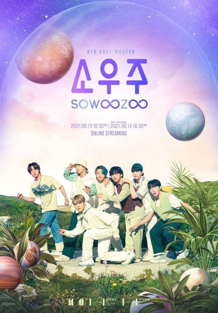 Promotional poster of 'BTS 2021 MUSTER Sowoozoo / Yonhap