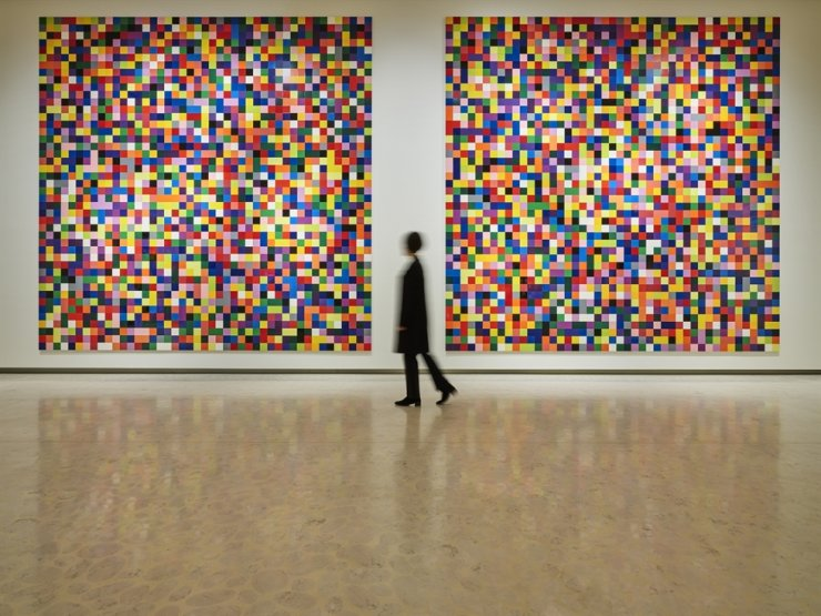 A solo exhibition of German visual artist Gerhard Richter presents the Version IX of his