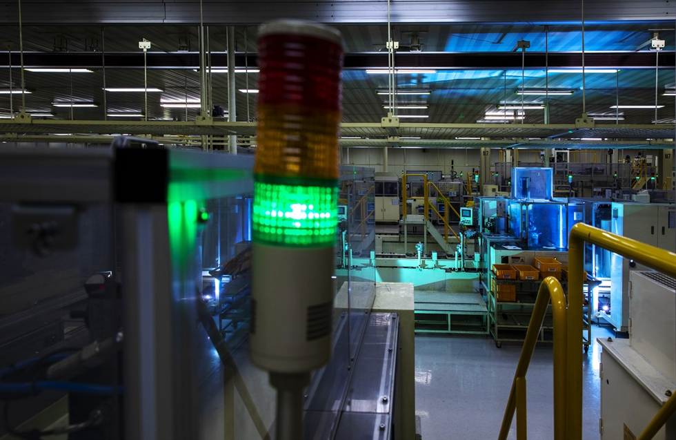 Seen is Hanon Systems' factory in Pyeongtaek, Gyeonggi Province. Courtesy of Hanon Systems