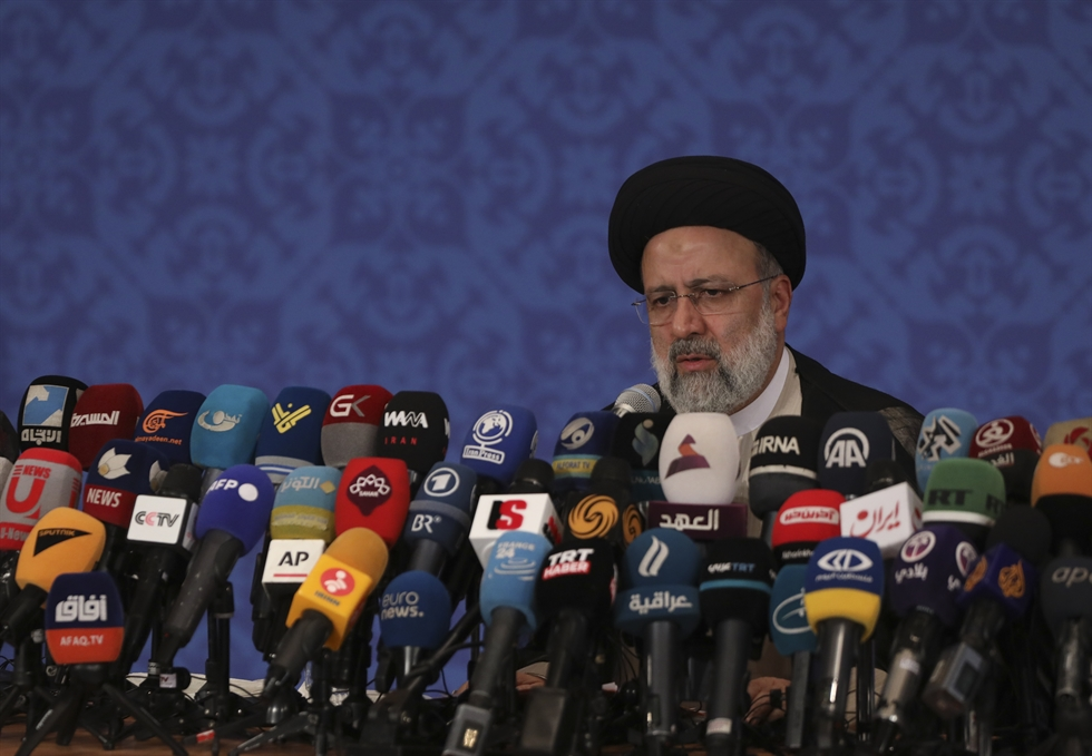 Iran's President-elect Ebrahim Raisi is pictured during his first press conference in the Islamic republic's capital Tehran, June 21. AFP-Yonhap
