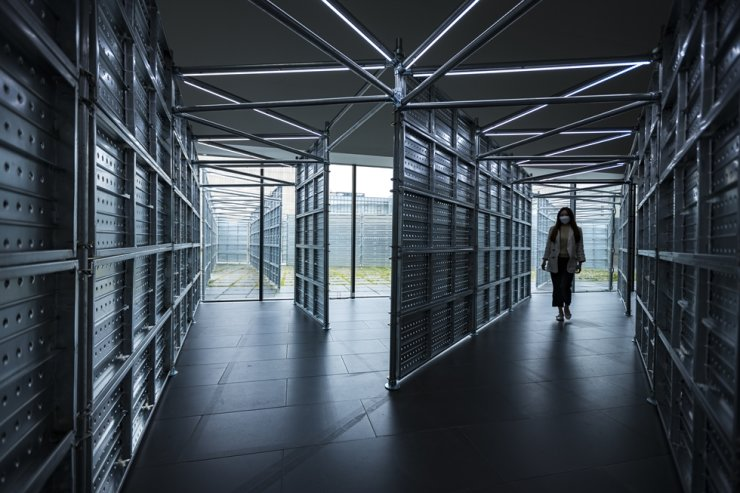Installation view of Seo Seung-mo's