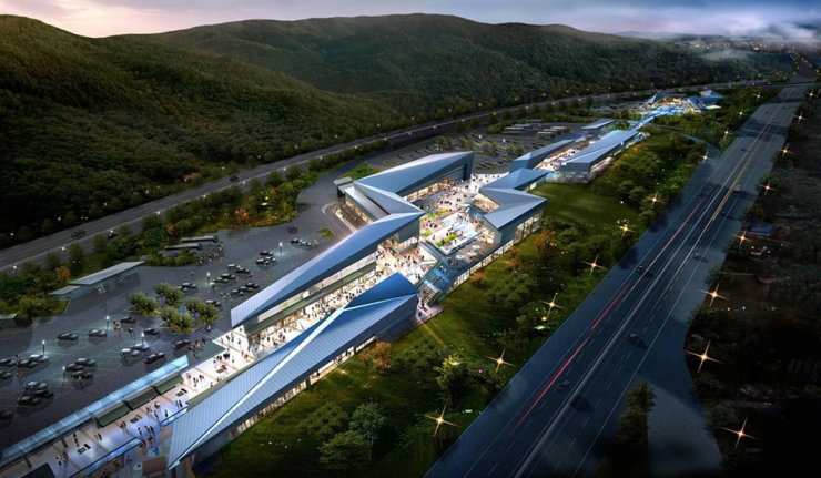 Majang Premium Service Area in Icheon, Gyeonggi Province / Courtesy of Daebo Distribution