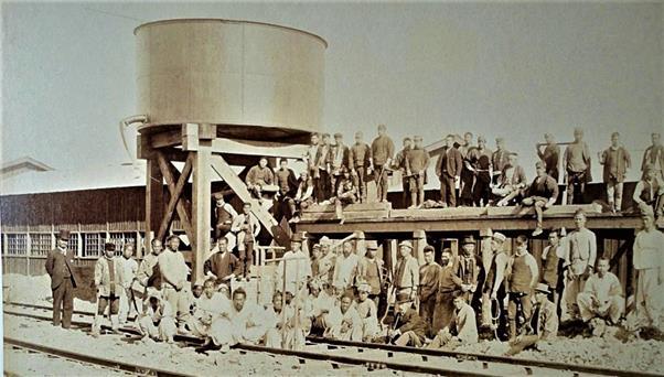 Korea's 'first' passenger train at Jemulpo on Sept. 18, 1899 / Courtesy of Patrick R. O'Donnell