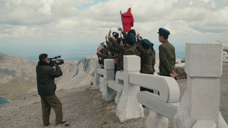 A North Korean work brigade on Mount Paektu / Courtesy of Swiss Alpine Museum