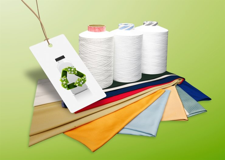 Polyester yarn produced by SK Chemicals / Courtesy of SK Chemicals