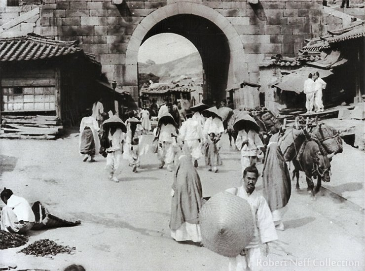 The West Gate of Seoul, circa 1900. Robert Neff collection
