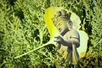 Photographer's layered Buddhist iconic images find harmony in nature, culture, concrete