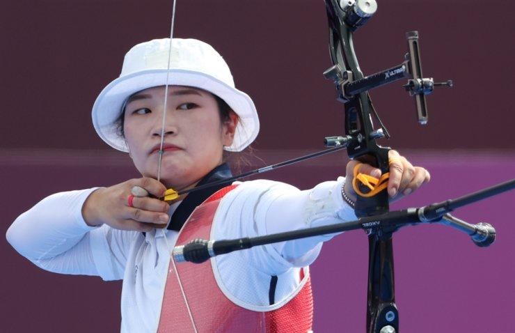 South Korean archer Kang Chae-young / Yonhap