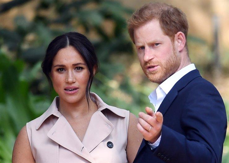 Prince Harry and Meghan Markle / EPA-Yonhap