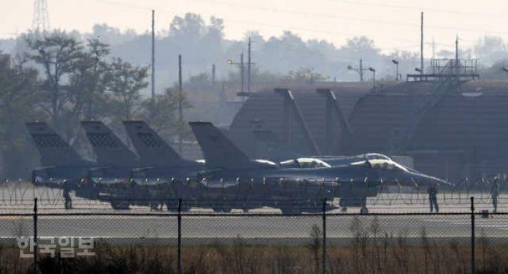 Osan Air Base in Pyeongtaek / Korea Times file