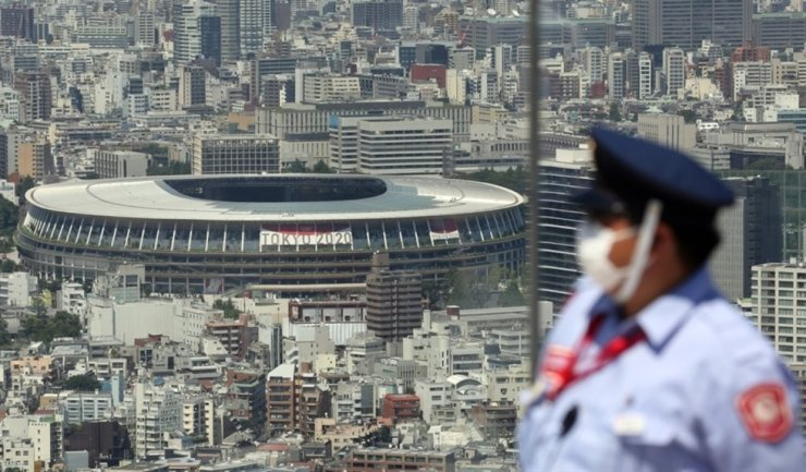 Seen above is Japan National Stadium to be used as the main venue of the pandemic-delayed 2020 Summer Olympics in Tokyo. Yonhap