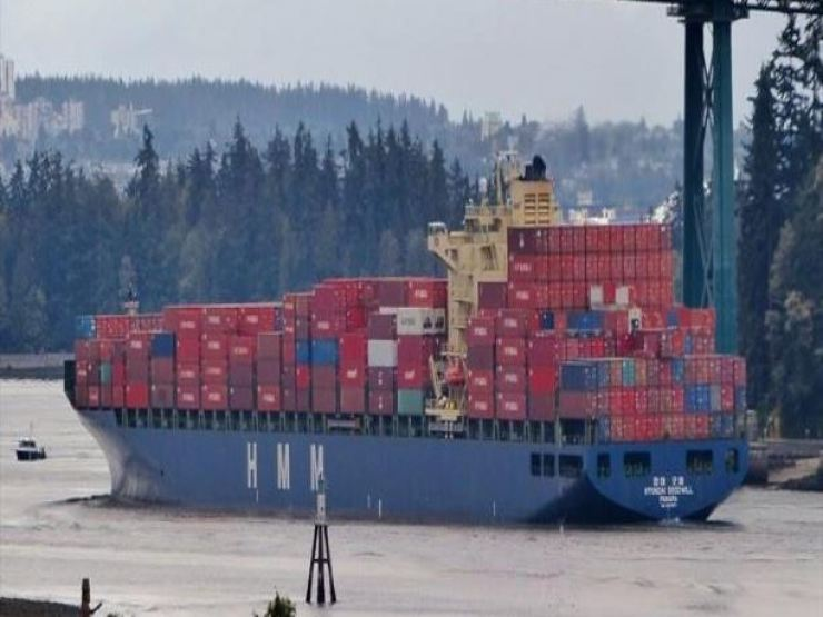An HMM container ship / Courtesy of HMM