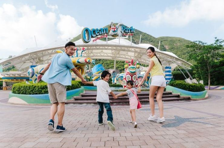 A long-delayed water park at Hong Kong's Ocean Park will not require visitors to be vaccinated against Covid-19 in a bid to encourage families to visit over the summer holiday. Courtesy of Hong Kong's Ocean Park