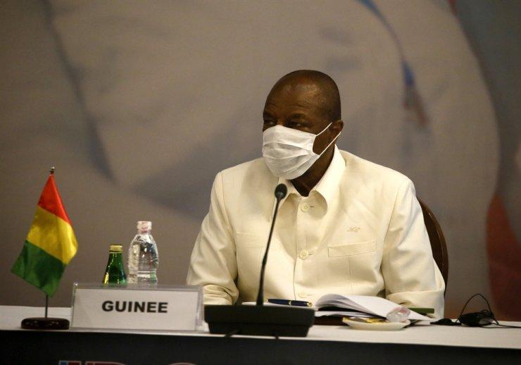 Guinean President Alpha Conde / EPA-Yonhap