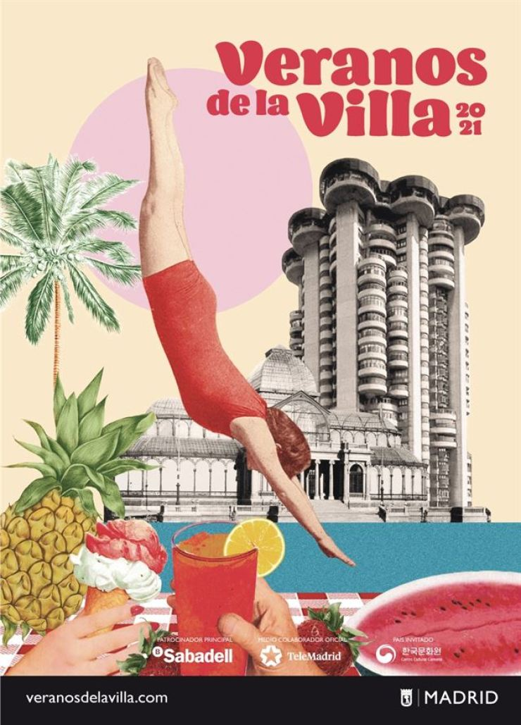 An official poster for this year's 37th edition of the Veranos de la Villa Festival in Madrid, Spain / Courtesy of Madrid Destino