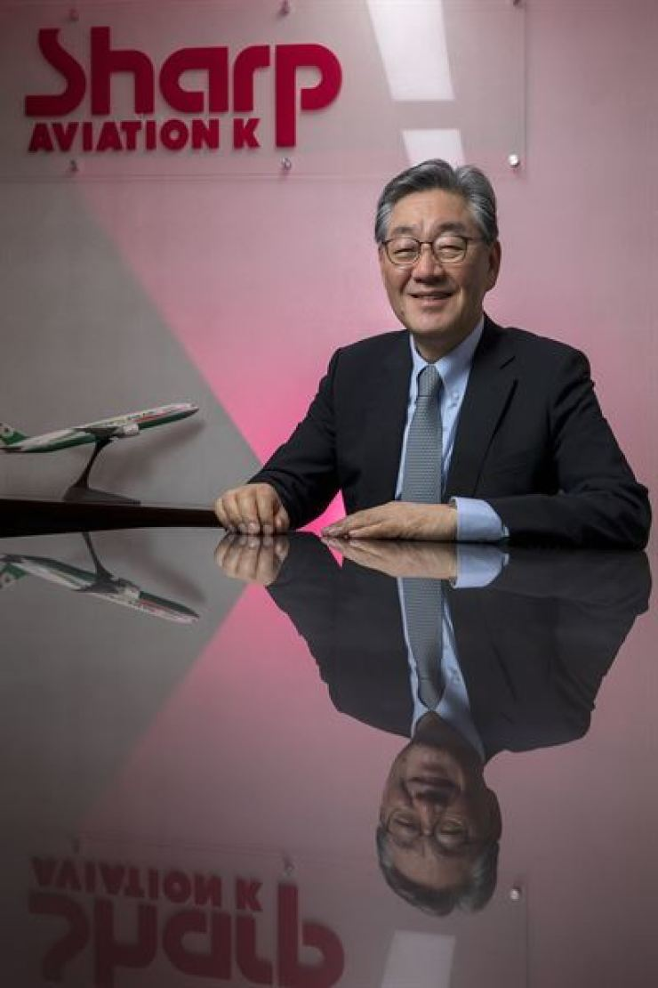 Paik Soon-suk, president and CEO of Sharp Technics K and its parent company Sharp Aviation K, holds an interview with The Korea Times at the company in Seoul, June 30. Korea Times photo by Shim Hyun-chul