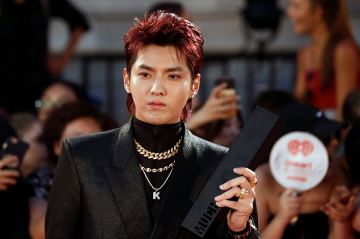 Kris Wu arrives at the iHeartRadio MuchMusic Video Awards in Toronto, Canada, Aug. 26, 2018. Reuters-Yonhap
