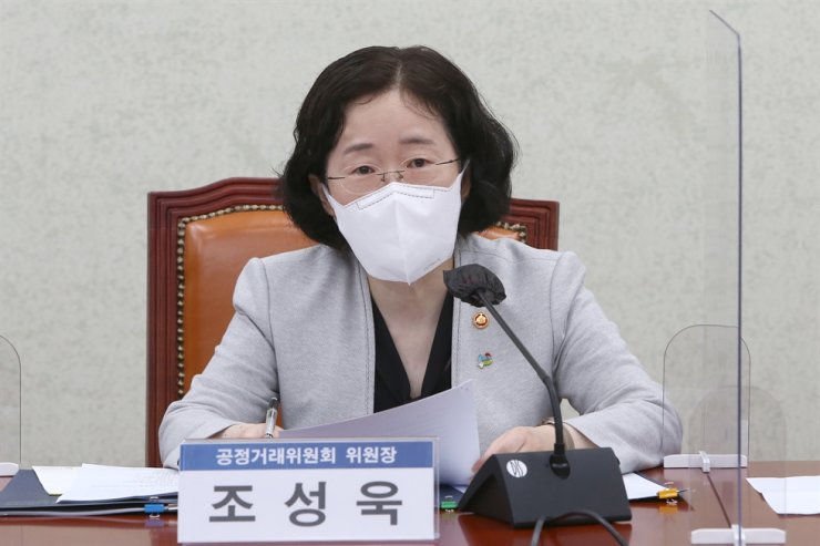 Fair Trade Commission Chairperson Joh Sung-wook speaks during a meeting held at the National Assembly on Yeouido, June 23. Korea Times file