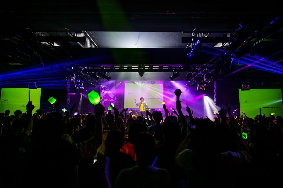 EDM artist and DJ Cho Sun-gu performs live at a club in Seoul, January 2020. Courtesy of Cho Sun-gu