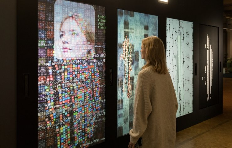 'YOU:R:CODE' (2017) by Bernd Lintermann and Peter Weibel / Courtesy of ZKM Karlsruhe and Jonas Zilius