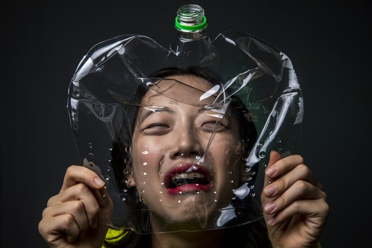 Environmental activist Hong Da-gyeong / Korea Times photo by Shim Hyun-chul