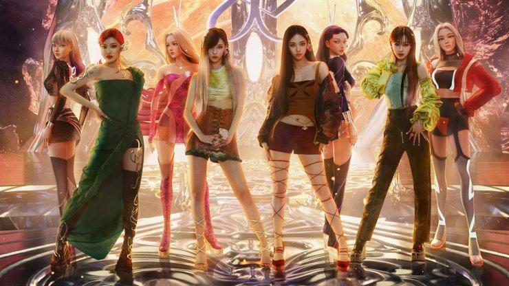SM Entertainment's girl band aespa, and their virtual avatars / Courtesy of SM Entertainment