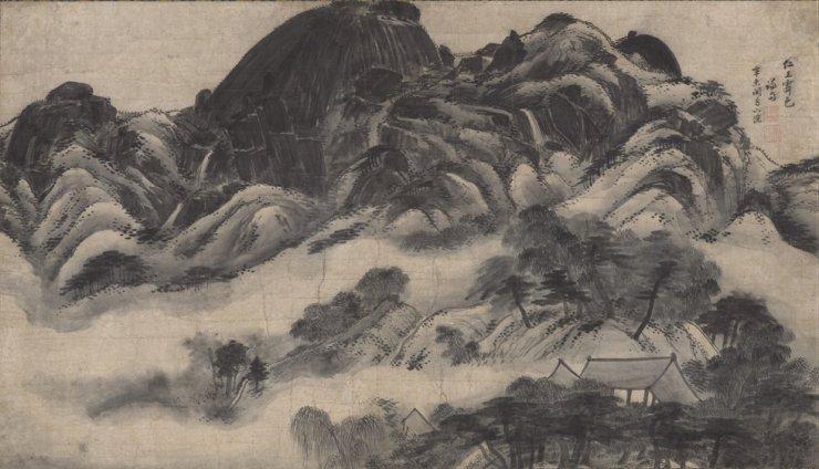 'Clearing after Rain on Mount Inwang' (1751) by Joseon-era painter Jeong Seon / Courtesy of NMK