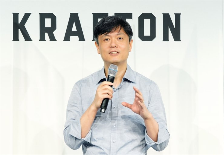 Krafton Chairman Chang Byung-gyu speaks during an online press meeting, Monday, sharing the company's future vision. Courtesy of Krafton