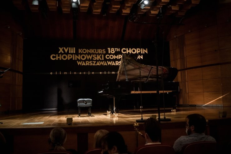 Seen is the stage for the 18th Chopin Piano Competition. Courtesy of the Fryderyk Chopin Institute