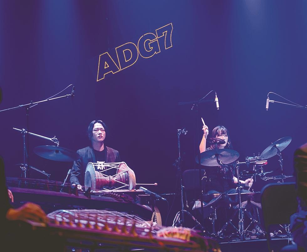 'Shamanic funk' band Ak Dan Gwang Chil (ADG7) members / Courtesy of Lee Jong Sam