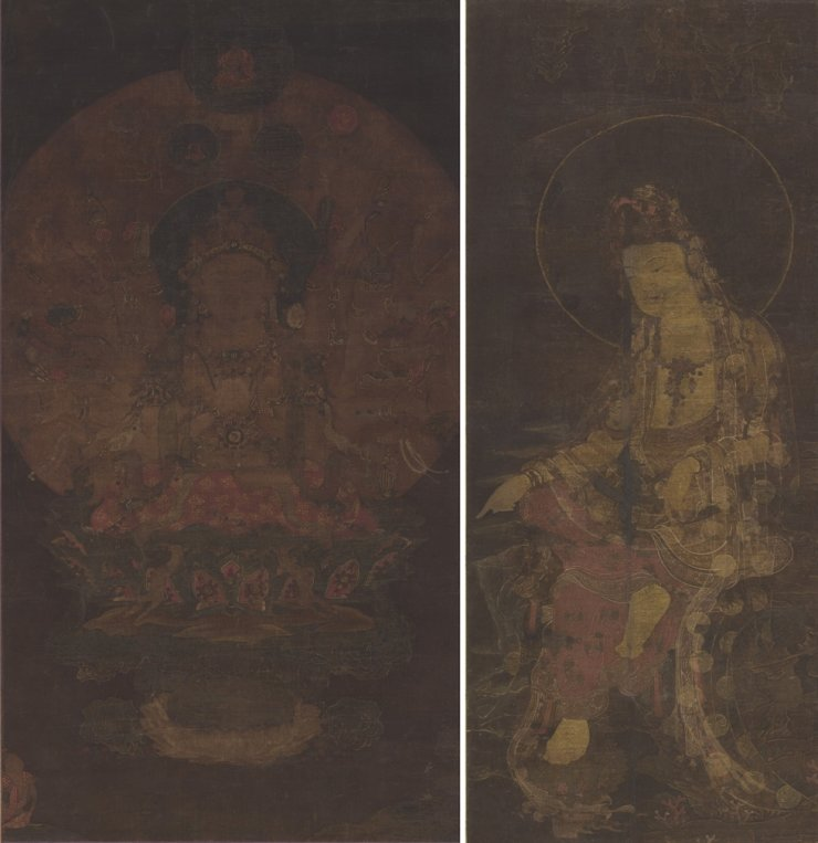 Two Buddhist paintings produced during the late Goryeo Dynasty ―