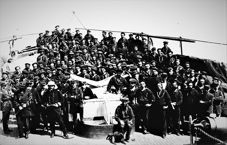 The officers and crew of the U.S.S. Monocacy in 1871 / Courtesy of Thomas Duvernay