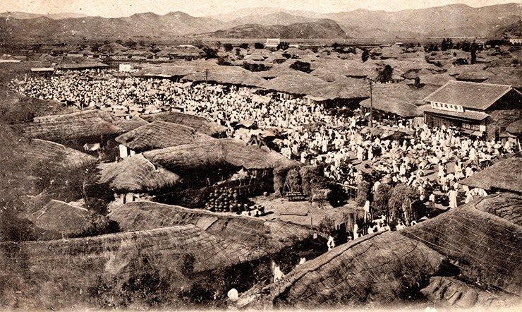 A market in Daegu circa 1900 / Courtesy of Diane Nars Collection
