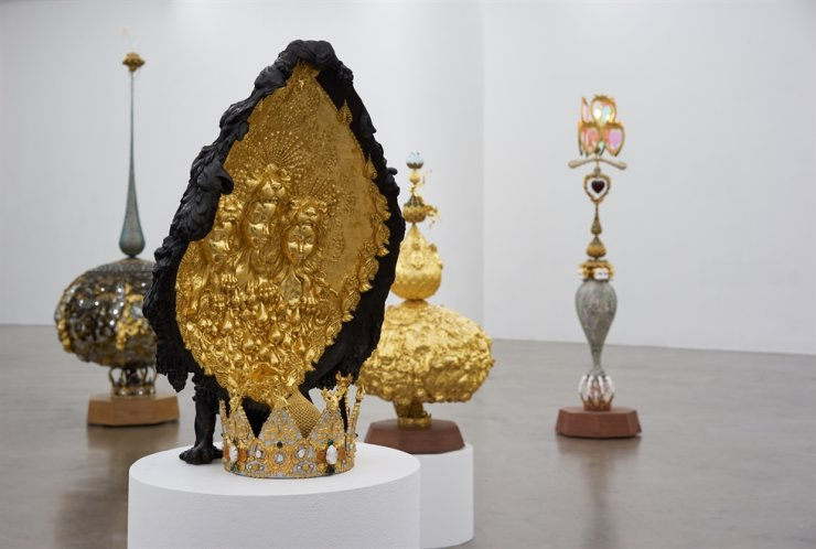 Installation view of Yeesookyung's exhibition 'Moonlight Crowns' at the Art Sonje Center in Jongno District, central Seoul / Courtesy of Art Sonje Center
