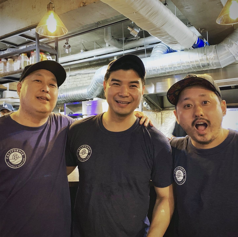 The staff of California Kitchen & Craft Pub, with Chuck Chun second from right in the top row and Justin Sasaki in the upper right. / Courtesy of Cali Kitchen