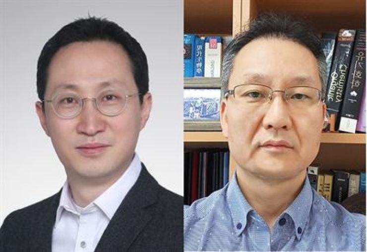 Yonsei University Professor Cho Jeong-ho, left, and Korea University Professor Woo Han-young / Courtesy of Yonsei University