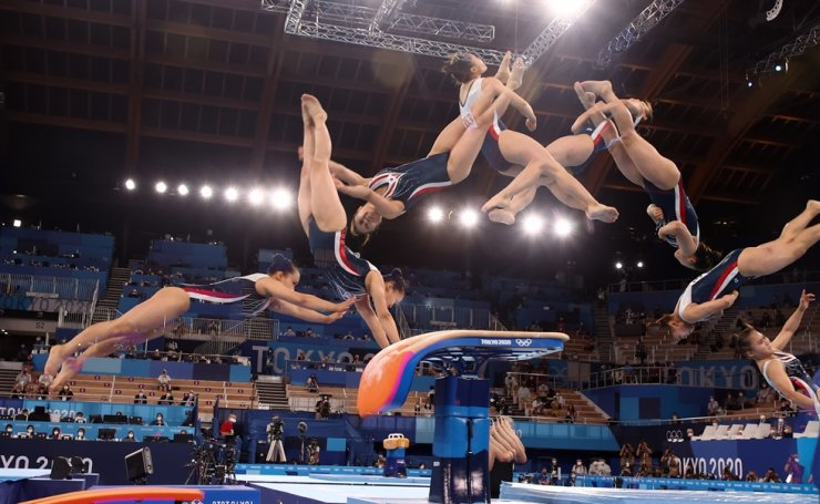 Yeo Seo-jeong competes in the women's vault final of the Tokyo Olympics at Ariake Gymnastics Centre, Sunday. Yonhap
