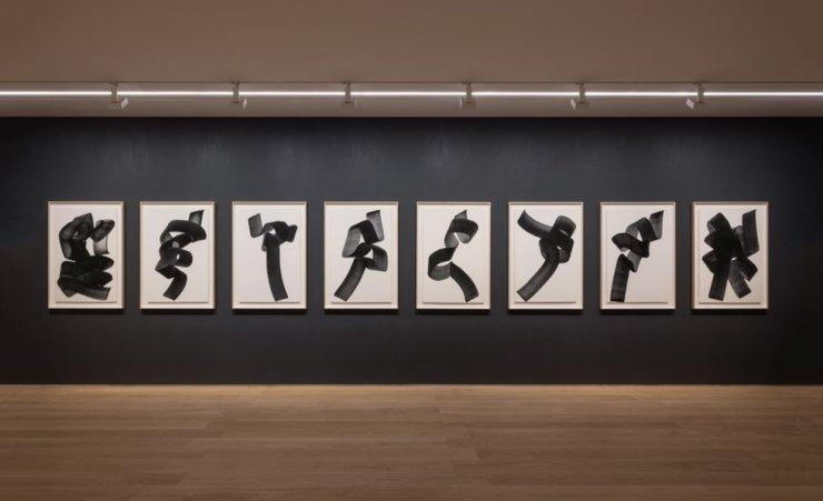 A view of Lee Bae's solo exhibition 'Paradigm of Charcoal' at Perrotin Hong Kong / Courtesy of the artist and Perrotin Hong Kong
