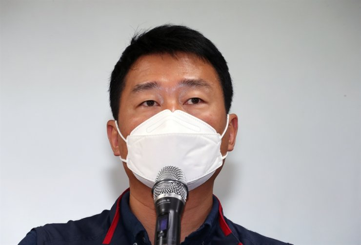 Yang Kyung-soo, head of the Korean Confederation of Trade Unions (KCTU) / Yonhap