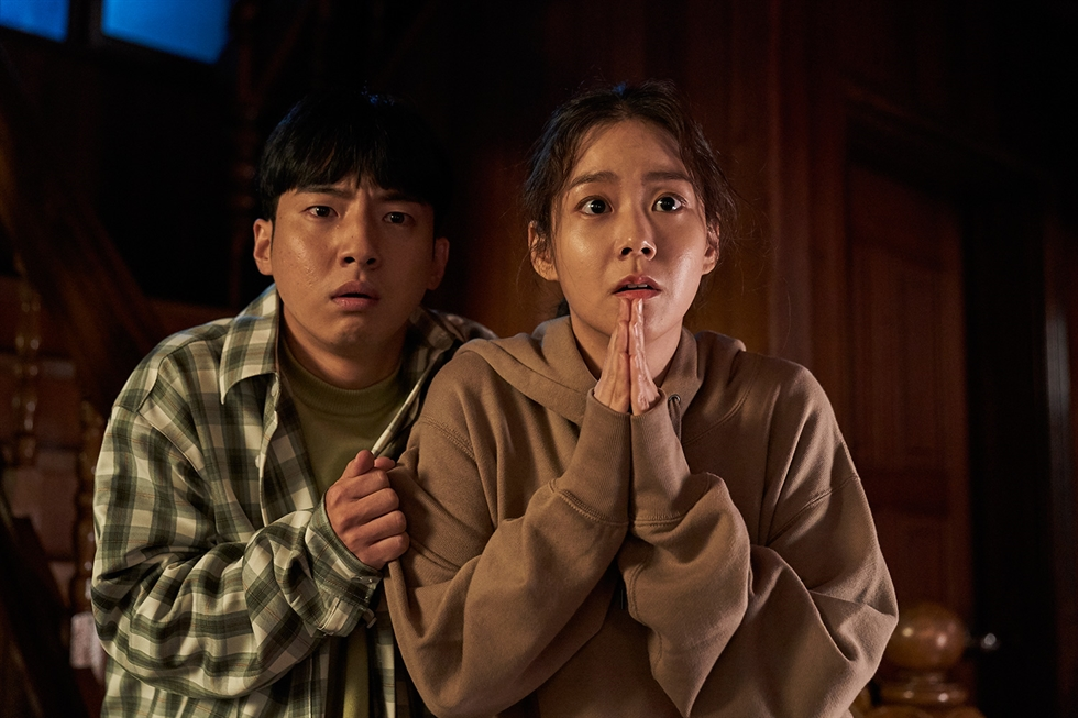 Bang Min-ah, left, in a scene from the film, 'Snowball' / Courtesy of At9 Film