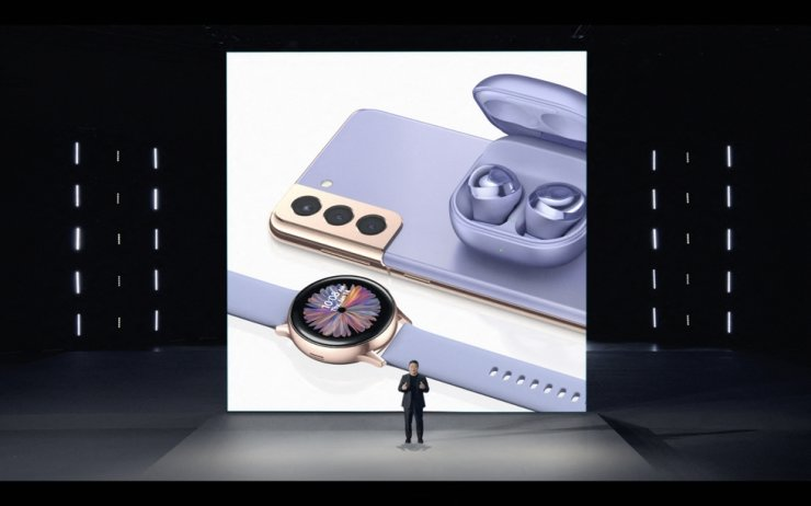 Roh Tae-moon, chief of Samsung Electronics' mobile communications business, introduces new Galaxy devices at a virtual event in Jan. 15. Users of KT's IPTV service are able to watch Samsung Electronics' Galaxy Unpacked event which will start at 11 p.m. (KST), Aug. 11. Courtesy of Samsung Electronics
