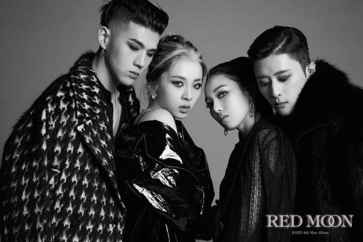 From left, BM, Jiwoo, Somin and J.Seph of K-pop quartet KARD / Courtesy of DSP Media