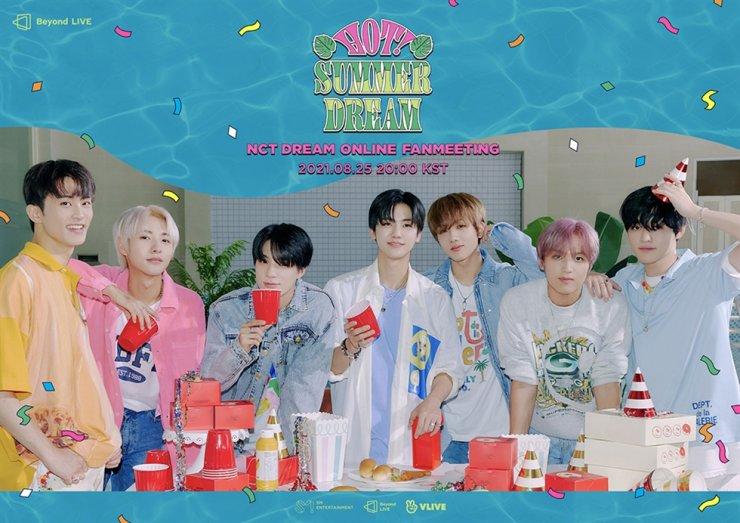 K-pop boy group NCT Dream will hold a virtual fan meeting in celebration of its fifth debut anniversary later this month. Courtesy of SM Entertainment