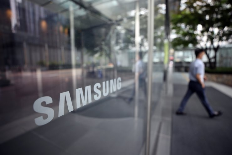 A man walks in front of a Samsung Electronics' building last week. Yonhap