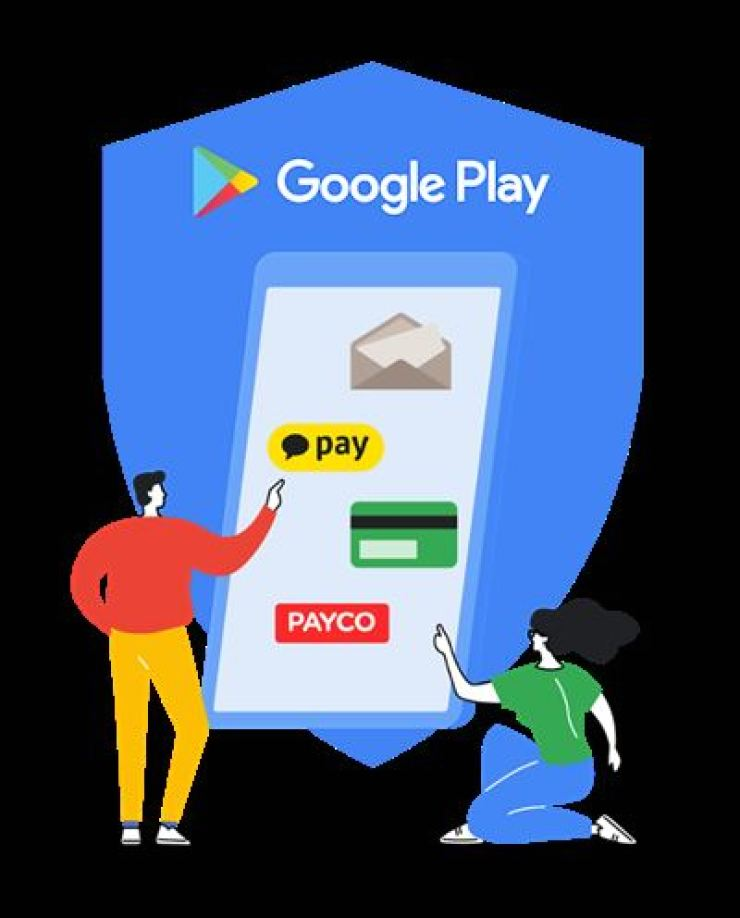 An illustration depicting the methods of payment for in-app purchase on Google Play / Courtesy of Google Play