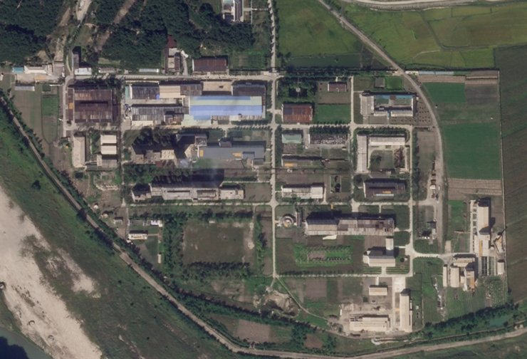 This Sept. 18 satellite photo from Planet Labs shows a uranium enrichment plant at North Korea's main Yongbyon nuclear complex. AP-Yonhap
