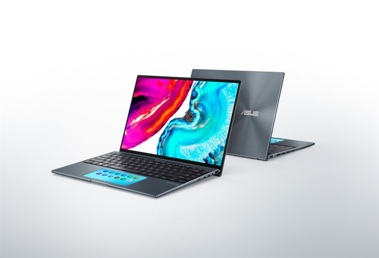 Seen are Asus' notebooks that use Samsung Display's 14-inch, 90-hertz OLED. Courtesy of Samsung Display