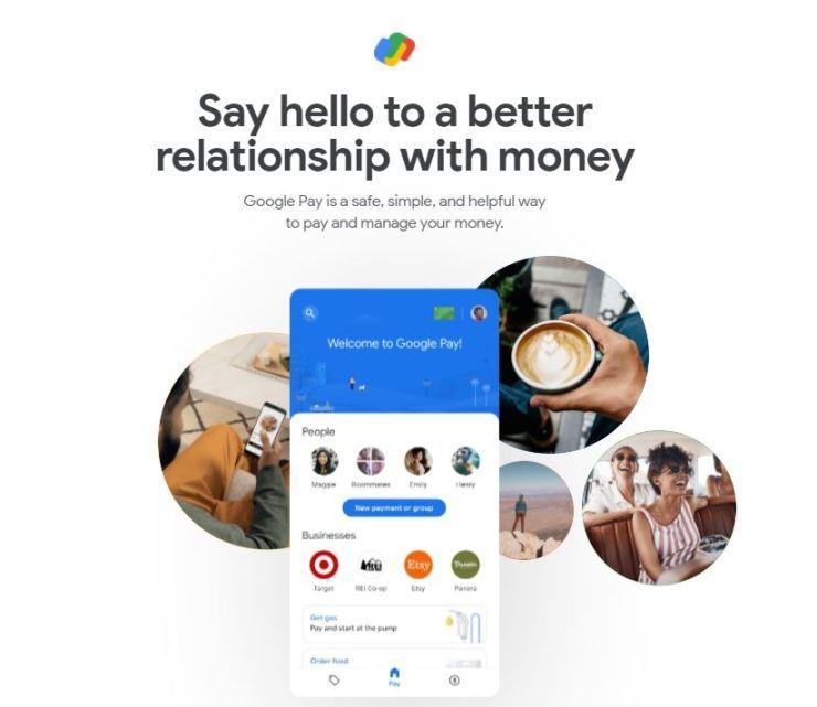 Seen is a screen capture of Google Pay website.