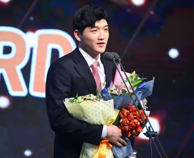 Korean men's volleyball MVP Jung Ji-seok / Korea Times file
